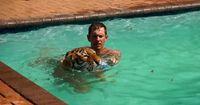 Wer schwimmt da bitte im Pool?
