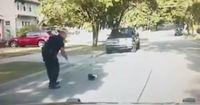 Ein Joghurtbecher läuft über die Straße