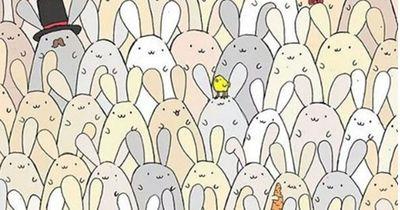 Findest du das Ei unter den Osterhasen?