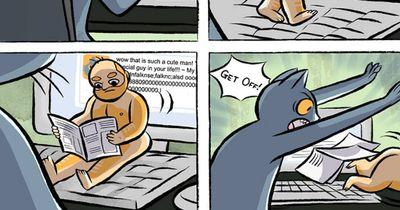 In diesen Comics tauschen Menschen und Katzen die Rolle